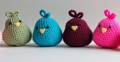 My daughter is obsessed with birds. So, for her Birthday party, I made seven crochet birds - one for each of her guests. The kiddos  lov...