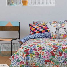 Single Duvet Set - Daisy - Kas Kids for sale on Trade Me, New Zealand's auction and classifieds website Duvet Sets, Kid Spaces, Kids Rooms, Home And Living, Comforters, Duvet Covers, Daisy, Blanket, Bed
