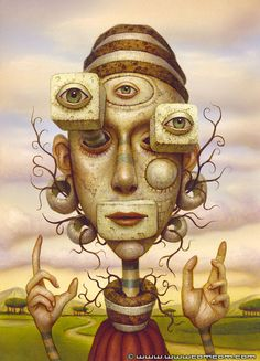 Surreal paintings by Naoto Hattori