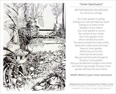 ART SATSANG: Inner Sanctuary, pen and ink, by Colleen-Joy