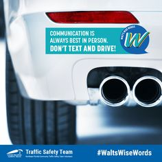 Communication is always best in person. Don't text and drive. Dont Text And Drive, It Can Wait, Law Enforcement, Wise Words, Communication, Community, School, Kids