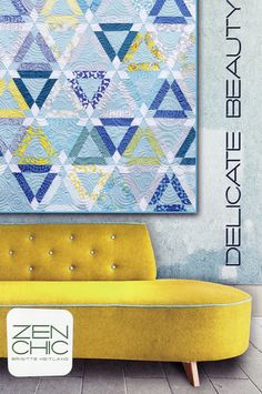 Delicate Beauty Quilt Pattern by Zen Chic Quilt by ModernQuilter, $8.00