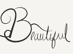 Beautiful #caligraphy #byAnna #peuapeubelle #beautiful #handwriting #script #designsbyAnna