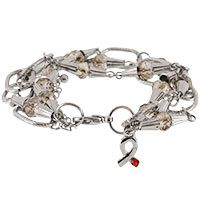 Crystal & Links Diabetes Awareness Bracelet at The Breast Cancer Site