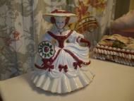 Price $84.74 - http://www.addoway.com/WoodyswagRecycle4U/storefront/ This is a terrific Estate Sale find. A Beautiful Southern Belle With A Victorian Flair That Is Finely Made With No Chips Or Cracks. Ooak Signed Classic Original 1988. Appears To Be A Porcelain Her Colors Are Charming And The Work Is Detailed Deep Rose In Color And Has Roses In The Work Approx 5 14...