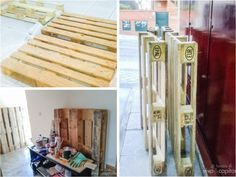 antes y despues pallets Lounge, Table, Furniture, Home Decor, Blue Prints, Airport Lounge, Drawing Rooms, Decoration Home, Room Decor