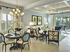 beautiful blue cream apple green dining living room Gallery @ Charlene Neal: Pure Style