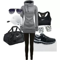Moda outfits, sporty outfits, nike outfits, athletic outfits, athletic we. Nike Outfits, Sport Outfits, Sexy Outfits, Casual Outfits, Winter Outfits, Hiking Outfits, Simple Outfits, Casual Wear, Fashion Mode