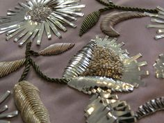 Hand and Lock Collections - Samples and Full Garments Throughout the year we produce multiple sample collections interpreting the seasonal fashion trends. Bullion Embroidery, Zardosi Embroidery, Hand Embroidery Dress, Tambour Embroidery, Silk Ribbon Embroidery, Embroidery Fashion, Embroidery Suits Punjabi, Embroidery Suits Design, Hand Embroidery Designs