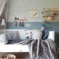 How gorgeous is this little boy's room by ? You… - Schönsten Deko-Ideen