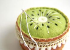 cute kiwi pincushion