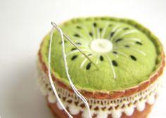 cute kiwi pincushion