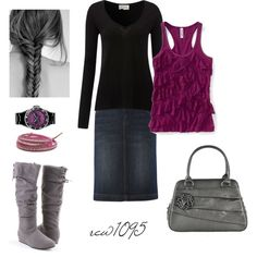 Purple, created by rew1095 on Polyvore