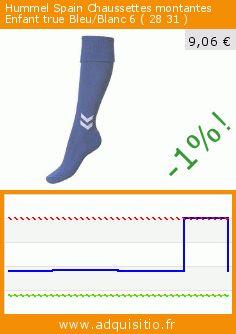 Hummel Spain Chaussettes montantes Enfant true Bleu/Blanc 6 ( 28 31 ) (Sports Apparel). Réduction de 55%! Prix actuel 9,06 €, l'ancien prix était de 19,93 €. https://www.adquisitio.fr/hummel/spain-chaussettes-22