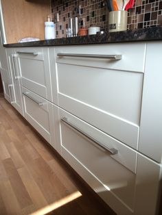 CRP Carpentry - Cologne Ivory Doors with Oak Carcases