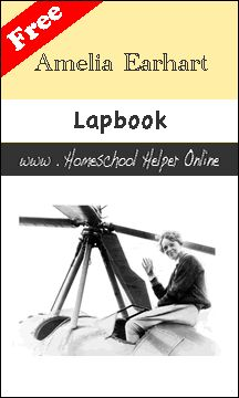 Amelia Earhart Lapbook - This free Amelia Earhart lapbook contains booklets about her birth and early life as well as her writing career and time spent in flight.