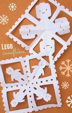 Lego Snowflakes- Easy and fun!