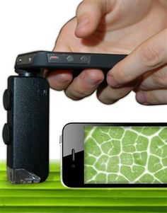 Microscopic camera lens for attaching to an iphone 4. Weird....