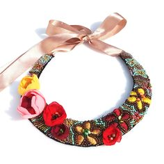 Crochet Necklace, Handmade Jewelry, Necklaces, Fashion, Embroidery, Moda, Handmade Jewellery, Fashion Styles, Jewellery Making