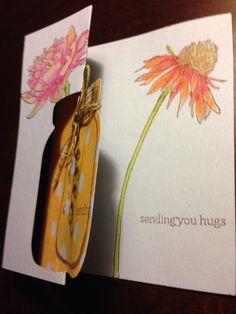 Made a flip card - Tim Holtz flowers