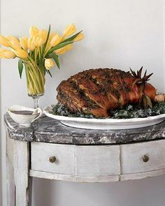 Easter Main Dishes // Fresh Ham with Green Herb Paste Recipe