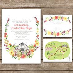 custom illustrated invites