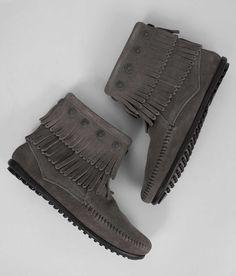 Minnetonka Double Fringe Boot - Women's Shoes | Buckle