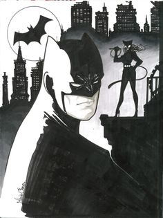 Batman and Catwoman by Mario Chavez *