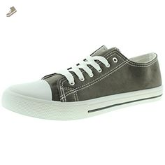 Qupid Women's Narnia-01 Fashion Sneaker, Charcoal Suede, 5.5 M US - Qupid sneakers for women (*Amazon Partner-Link)