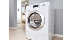 Miele's WT1 integrated washed -dryer can be connected to the Internet via a home's wireless network using the free-of-charge Miele@mobile app. When detergent levels in the cartridges are low, TwinDos even automatically relays this information to a smartphone or tablet PC, ordering option inclusive.
