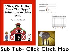 Do you have a sub tub? What do you do if you have to be out for an emergency and you don't have plans ready for a sub? check out my Sub Tub- Click, Clack, Moo.