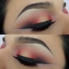 Orange eye look