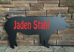 Pig Sign Cutout