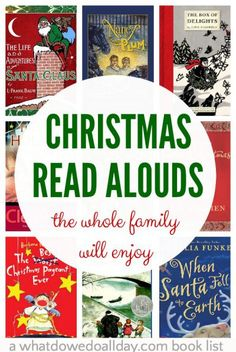 Christmas chapter books to read aloud as a family. Get out the hot chocolate because these are books grown-ups will enjoy just as much as the kids! Christmas Books For Kids, Christmas Activities, Book Activities, Christmas Fun, Holiday Fun, Magical Christmas, Xmas, Preschool Books, Preschool Christmas