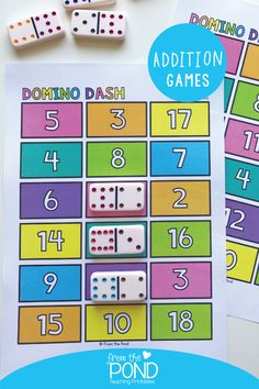 We are taking a slight detour on our current focus on subtraction to let you know that we have just listed a new pack of addition games to help students become familiar with addition facts. Kindergarten Games, Preschool Math, Math Classroom, Teaching Math, Teaching Addition, Addition Games For Kindergarten, Math Addition Games, Fun Math Games, Addition Facts