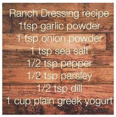Ranch Dressing Recipe 21 day fix - use red container for measurement