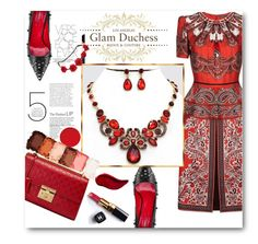 """""""Glam Duchess"""" by glamduchess ❤ liked on Polyvore featuring Cesare Paciotti, Alexander McQueen, NYX, Gucci, Chanel, Kat Von D and vintage"""