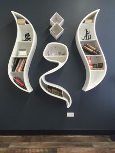 IQRA book shelf modern Arabic calligraphy by ModernWallArt1