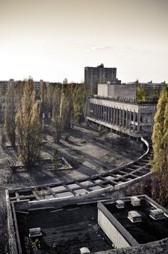 """Chernobyl: An Inventory of Mortality. A photographic essay of Chernobyl and Pripyat 25 years later: """"I visited the site of the Chernobyl nuclear disaster and the nearby city of Pripyat. Chernobyl 1986, Chernobyl Disaster, Places Around The World, Around The Worlds, Post Apocalyptic City, Chernobyl Nuclear Power Plant, Ruined City, Nuclear Disasters, Abandoned Cities"""