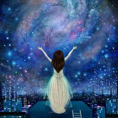 Reach For The Stars 11X11   empowerment  inner by Meluseena, $36.00