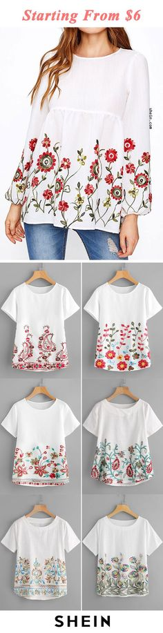 Starting from $6! Beautiful Outfits, Cute Outfits, Embroidered Clothes, Fashion Outfits, Womens Fashion, Everyday Fashion, Ideias Fashion, What To Wear, Style Me