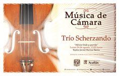 """Música: Trío Scherzando """"México lindo y querido"""" Viernes 24 de agosto, 13:00 horas  Teatro Javier Barros Sierra  Solicita tus cortesías en el Centro Cultural Acatlán: http://www.acatlan.unam.mx/noticias/5543/"""
