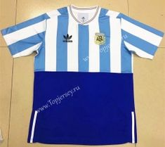 4fe532867 2018 World Cup Commemorative Edition Argentina Home Blue and White Thailand  Soccer Jersey AAA