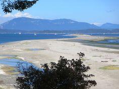 Sidney Spit is an extension of Sidney Island pointing northwest toward Saltspring Island, British Columbia, Canada. British Columbia, North West, Canada, Victoria, Island, Beach, Water, Outdoor, Block Island