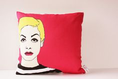 Twiggy Modern Graphic Art Pillow by reStyled by Valerie