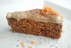 Raw Carrot Cake! Created by Chef Russell James. Amazing flavor!