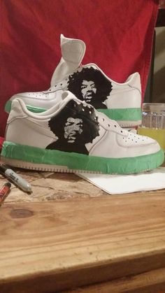 new concept a15ee 3a5ed JIMI HENDRIX Air Force Ones