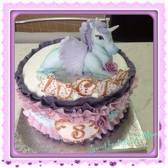 Ruffle cake,unicorn cake,cake decorations,fondant