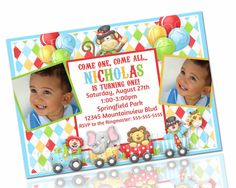 Circus Carnival Birthday Invitation PRINTABLE by LilyPieStudio, $12.00