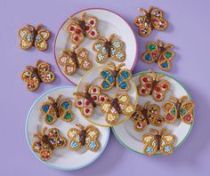 Butterfly pretzel bites - my kids would love to make these.